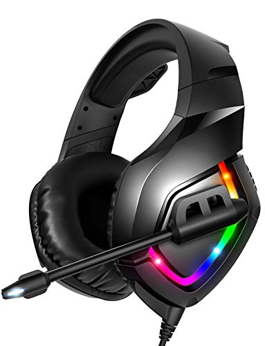RUNMUS Gaming Headset PS4 Headset with 7 1 Surround Sound